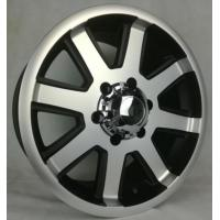 China 17 Inch 6 Lug Off Road Wheels Aftermarket 4x4 Aluminum Truck Rims Black with Machine Face on sale