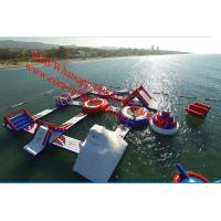 Cheap adult inflatable water park supplies Floating games water park games for adults waterpark for sale