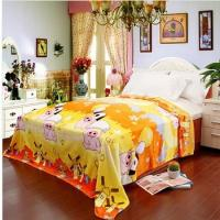Cheap Yellow Polyester Antistatic Micro Fiber Blanket Adult , Custom Cartoon Blanket wholesale
