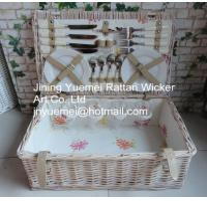 China wicker basket wicker picnic basket Cheristmas basket on sale