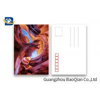 Cheap Landscape Lenticular Postcards Printing , 3D Printing Images PET / PP Material for sale