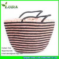 Cheap leather handels wheat straw handbags for sale