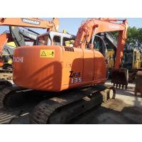 Cheap HITACHI ZX135 Second Hand Excavators , 2nd Hand Diggers Isuzu Engine 4  Cylinders for sale