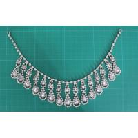 Cheap Silver and clear Women Handmade Rhinestone Alloy necklace for girls dress for sale