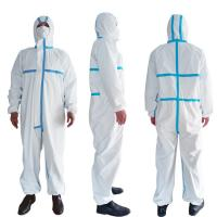 Cheap PPE Disposable Protective Suit , Chemical Protective Coveralls Clinical Mutiple Sizes for sale