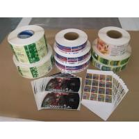Cheap Gravure Printing Plastic Adhesive Labels for Mass Printing Production wholesale