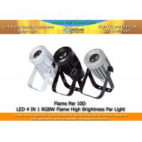 Cheap LED Flame Par Light RGBW 4 In 1 LED Par Can Lights With RGBW Flame Effect for sale