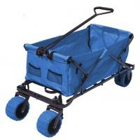 Cheap Outdoor Durable Collapsible Folding Wagon Big Capacity Folding Beach Cart for sale
