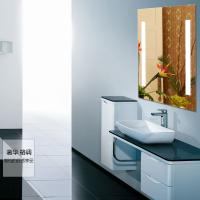 China 5mm clear glass led lighted bathroom mirror on sale
