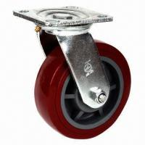 Cheap Heavy-duty Korean Caster Wheel, Top Plate Swivel, Made of PU for sale