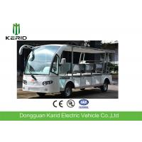 China White 14 Seats Tourist Resort Car Battery Used Electric Sightseeing Car With Sunshade on sale