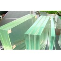 Cheap Storm Proof Laminated Safety Glass Flat , SGP Film Toughened Glass for sale