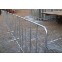 Buy cheap ISO 9001 Crowd Control Barrier Hot Dipped Galvanized 35mm tube wall thick 1.1mm from wholesalers