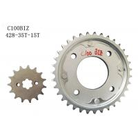 Cheap C100BIZ 35T-15T Motorbike Chain And Sprocket Transmission 8000KM Life Span for sale