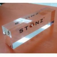 Cheap Acrylic Logo Sign Block Plaque, Diamond Polishing, Silk Printing, Customized Designs are Accepted for sale