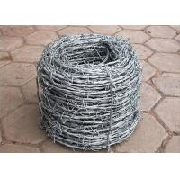Cheap Galvanized Steel Barbed Wire For Protecting Vineyard 2mm Diameter 15mm Barb for sale