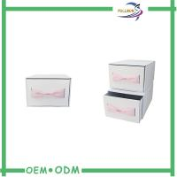 Cheap Custom Logo Pink Cardboard Drawer Slide Packaging Boxes Clothes Gift Boxes With Bow wholesale