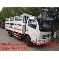 LHD/RHD stake van truck for transporting gas cylinders for sale, hot sale best price dongfeng gas canister van truck
