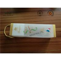 Cheap Frosted At Surface Cardboard Food Packaging Boxes With String , Wine PVC Gift Boxes wholesale