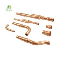 Cheap No Chemical Hurt Air Conditioner Fitting Copper Refnet Branch Pipes Fittings for sale