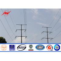 China 15m Tapered Conical Steel Transmission Poles , Electric Telescoping Pole on sale