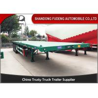 Cheap Carbon Steel 40 Ton Flatbed Truck Trailer BPW Axle With Air Bag Suspension for sale