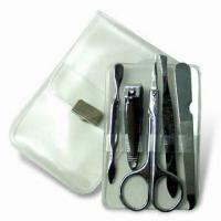 Cheap Manicure Set, Made of Stainless Steel, Ideal for Travelling, OEM Orders are Welcome for sale