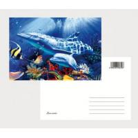 Cheap 2021 Souvenir scenery Plastic lenticular 3D printing postcard with 3D flip effect post card printed by UV printer for sale