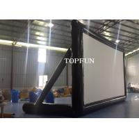 Cheap PVC Tarpaulin Outdoor Inflatable Movie Screen Project Screen 7 x 4 m for sale