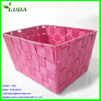 Cheap Dyed Pink nylon material woven box for sale