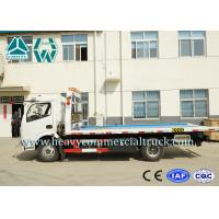 Professional Flat Bed Wrecker Tow Truck For Road Block Removal