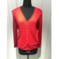 Cheap Computer Knitted Womens Red Cardigan Sweater Long Sleeve Anti Shrink for sale