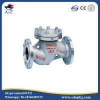 High quality flanged swing GB lift stainless steel water check valve with low