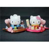 Cheap Valentine'S Day Hello Kitty Plastic Figurines Eco - Friendly PVC ABS Material for sale