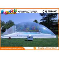 Cheap PVC Transparent Inflatable Pool Cover Tent , Swimming Pool Cover Shelter for sale