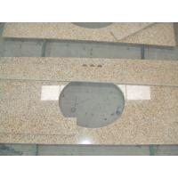Cheap Sunset Gold Granite Bathroom Vanity Tops , Custom Cut Size Granite Tile Countertop for sale