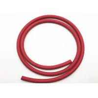 Cheap Red Fabric Braided Compressed Air Hose / Flexible Rubber Hose B.P 900psi for sale