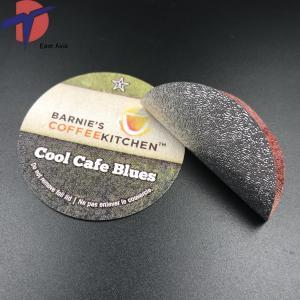 China Factory wholesale Aluminum foil lid k-cup capsule foil lids, sealing aluminium foil lids for cafe espresso machine on sale