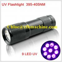 Cheap Waterproof Black Color Aluminum Alloy  Dry Battery Powered 395NM 9 UV LED FLashlight/Torch wholesale