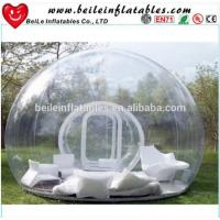 China Inflatable Transparent Tent and Clear Bubble Tent with sofa or pillow For Sale on sale