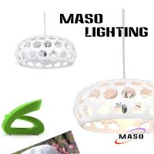 Resin Material White Apple Three Lamp E27 Holder Steel Wire Adjustable Indoor Pendant Lamp