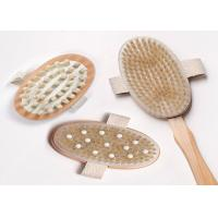 China 3 Detachable Heads Long Handled Body Brush With Rubber Nubs , Eco Friendly on sale