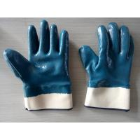 Cheap Heavy Duty Nitrile Coated Gloves with Cotton Jersey Shell for sale