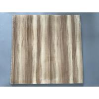 Cheap Professional Wooden Flat PVC Ceiling Tiles With Stable Material 595mm / 603mm for sale