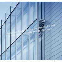 Cheap Double Layer Insulation Glass Curtain Wall Stick Built System Transparant for sale