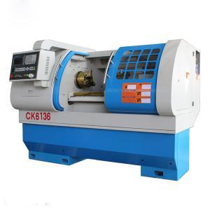 Cheap CK6136 CNC Lathe Machine / Lathe Bar Feeder Automatic Feeding With Hydraulic Chuck for sale