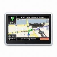 Cheap 5-inch GPS PND Navigation System with FCC, CE and RoHS Marks, Supports ISDB-T for sale