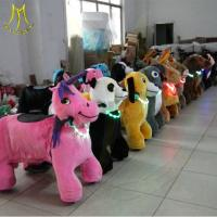 China Hansel battery operated toys coin operated horse ride animal scooter rideing fun indoor games for kids horseback riding on sale