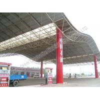 Buy cheap Gas Station Light Steel Roof Trusses with Steel Space Frame Canopy from wholesalers