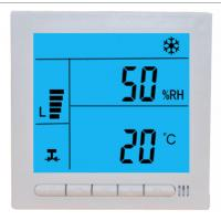 Cheap Large LCD Digital Fcu Thermostat / Temperature Humidity Thermostat Wired Controller for sale